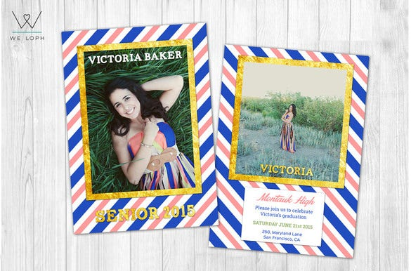 breath taking graduation announcement template 6