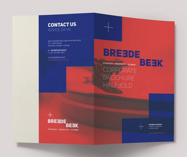breede bi fold corporate brochure templates