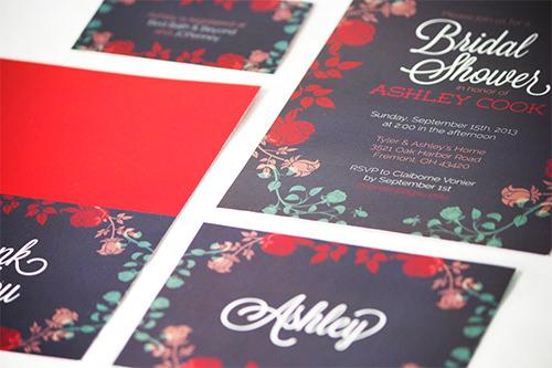 bridal shower invitation set