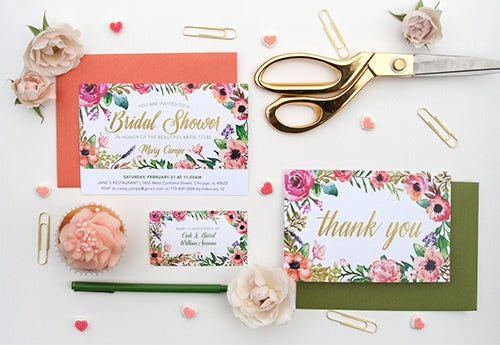 bridal shower invitation suite template