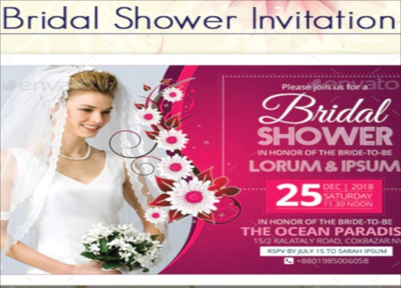 bridal shower invitation template download