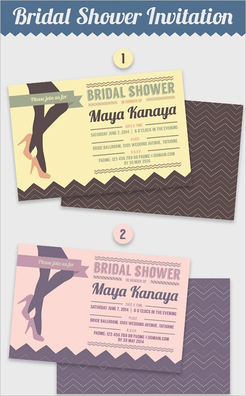 30 Bridal Shower Invitations Templates PSD Invitations Free