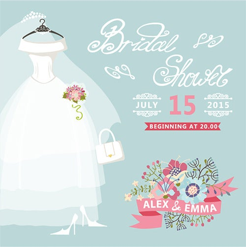 Bridal Shower Wedding Dress Template  Bridal Shower Template