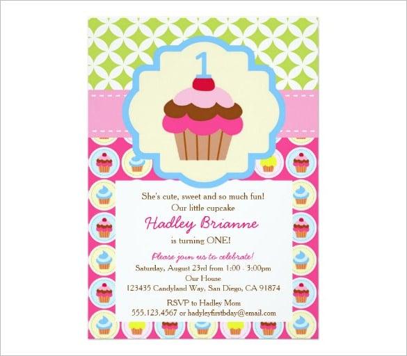 Bright Cupcake 1st Birthday Email Template k5ANfU0h