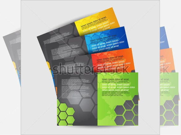 brochure design set template