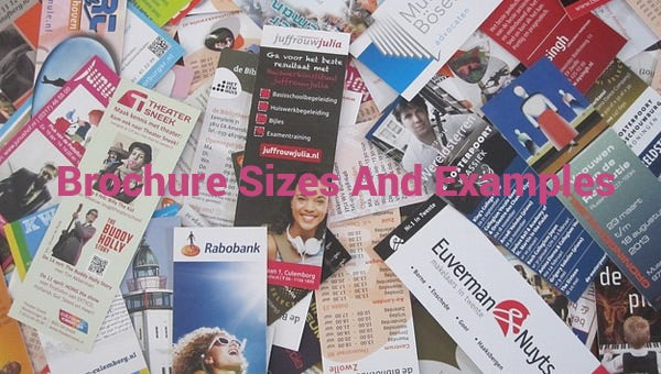 brochure sizes and examples