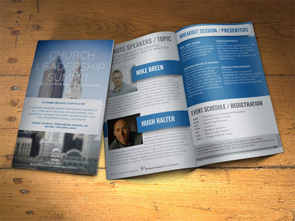 brochure for non profit event template