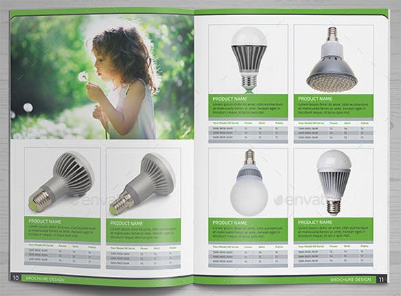 bulb products brochure template