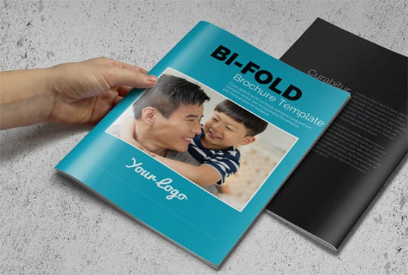 business bi fold brochure for 4