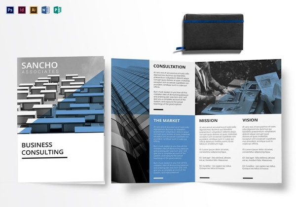 31 modern brochure design templates psd indesign for Bi fold brochure template indesign free
