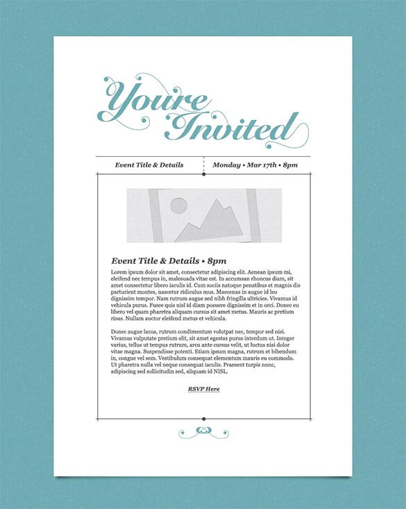 Email Invitation Template – 26+ Free PSD, Vector EPS, AI, Format ...