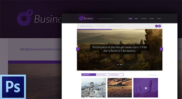 business free psd website template