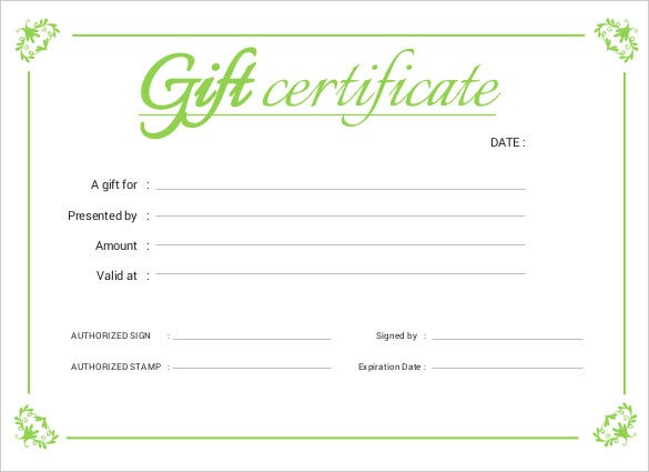 Printable certificate template 46 adobe illustrator for Business gift certificate template