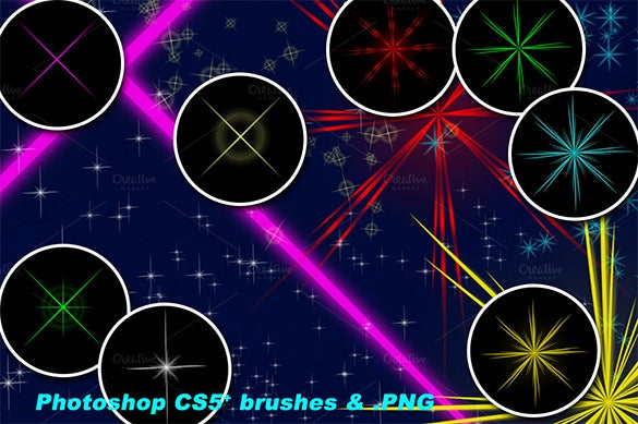 cs5 star blur brushes 6