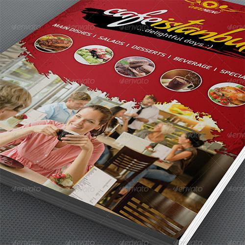 cafe menu templates