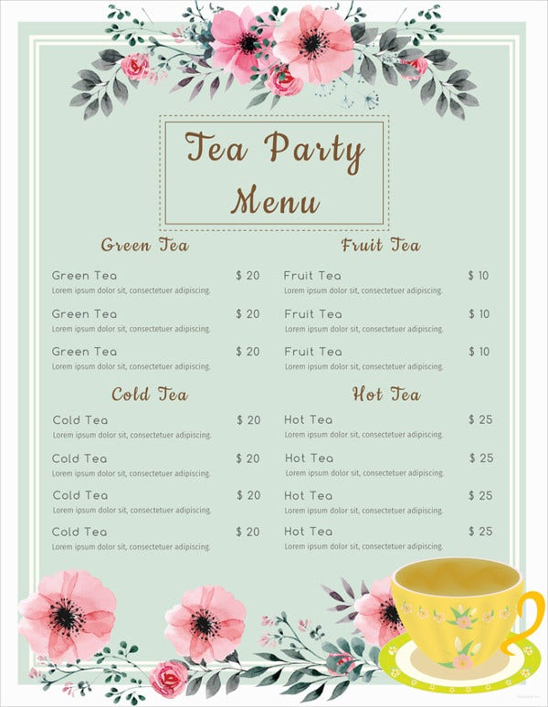 cafe-tea-party-menu-template