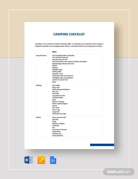 camping checklist template2