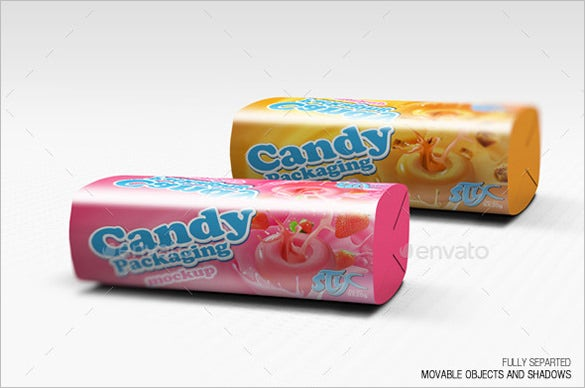 candy bar packaging template