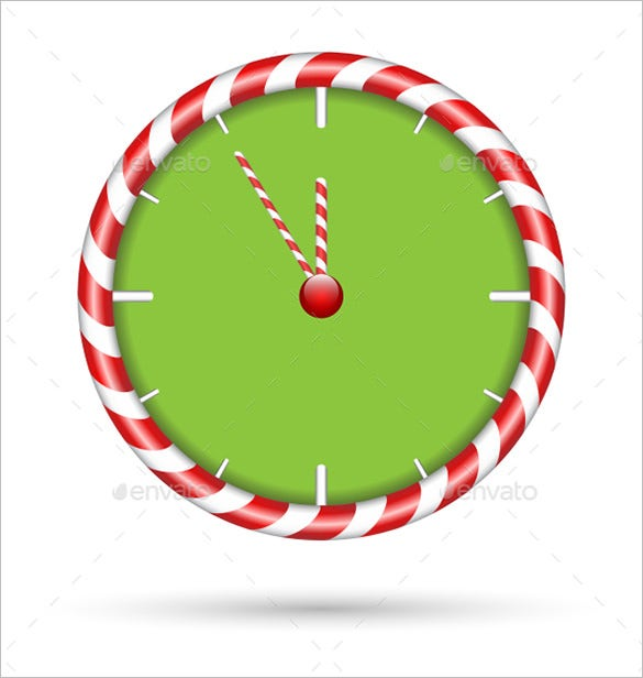 candy cane clock template 4