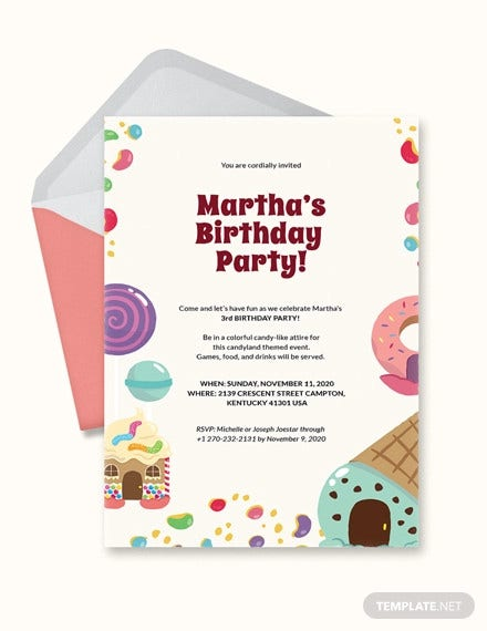 candyland birthday invitation template1