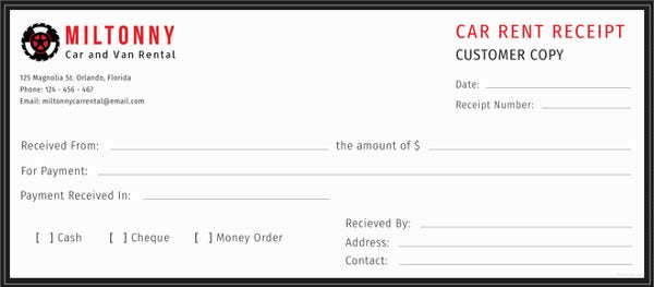 Rent Receipt Template Free Word Excel PDF Format Download - Invoice word doc online store credit cards guaranteed approval