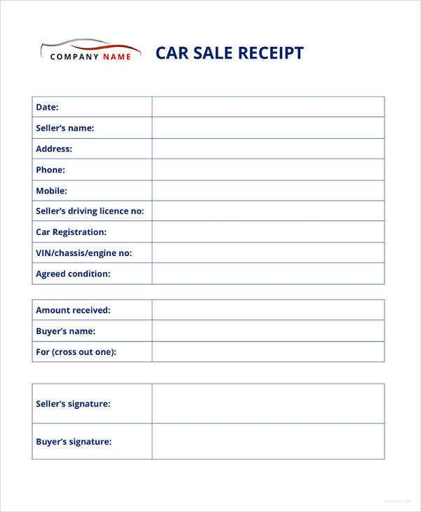 car sale receipt template10
