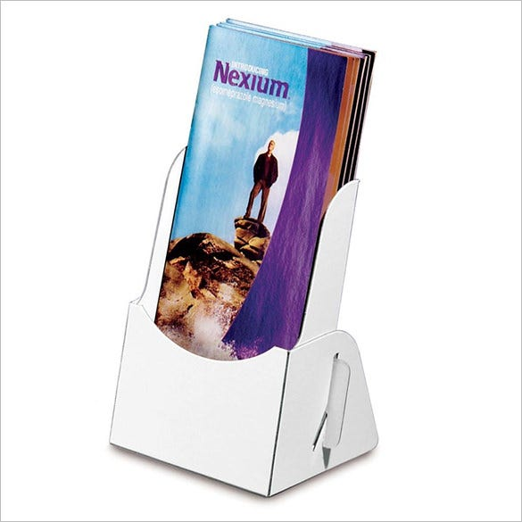 10 brochure holder template designs and ideas free for Cardboard brochure holder template