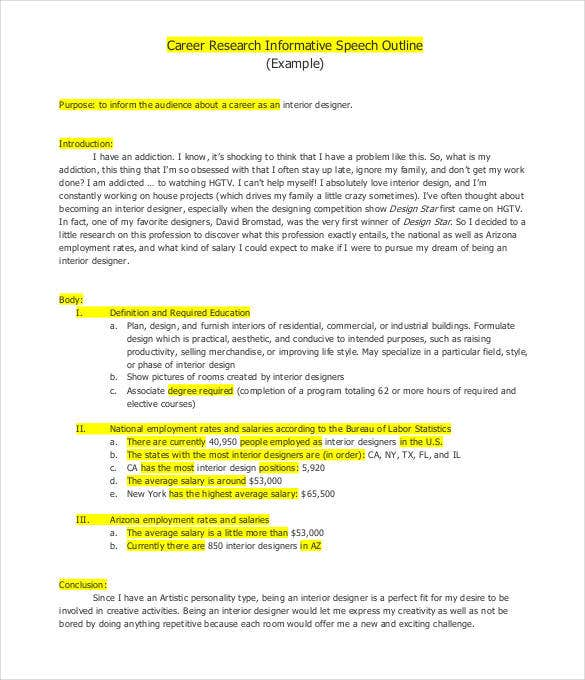 Speech Outline Template - 32+ Free Pdf, Word Documents Download