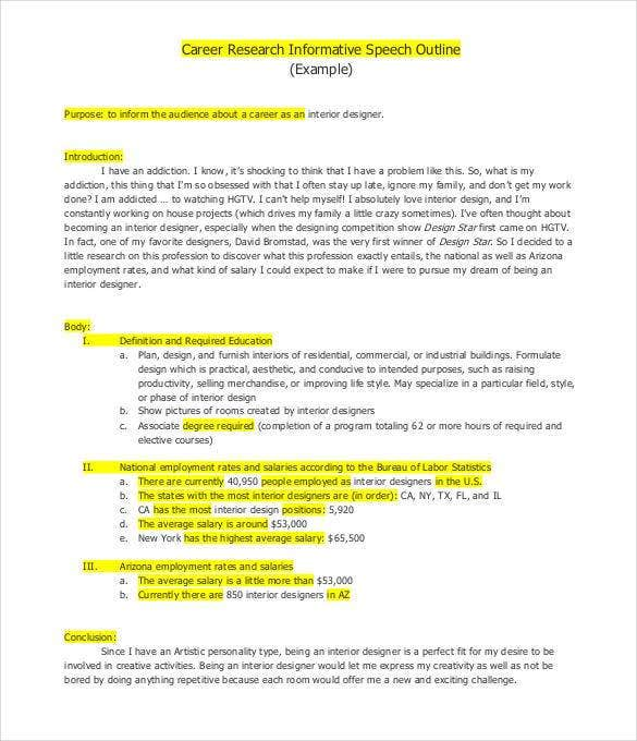 Speech Outline Template   Free Pdf Word Documents Download