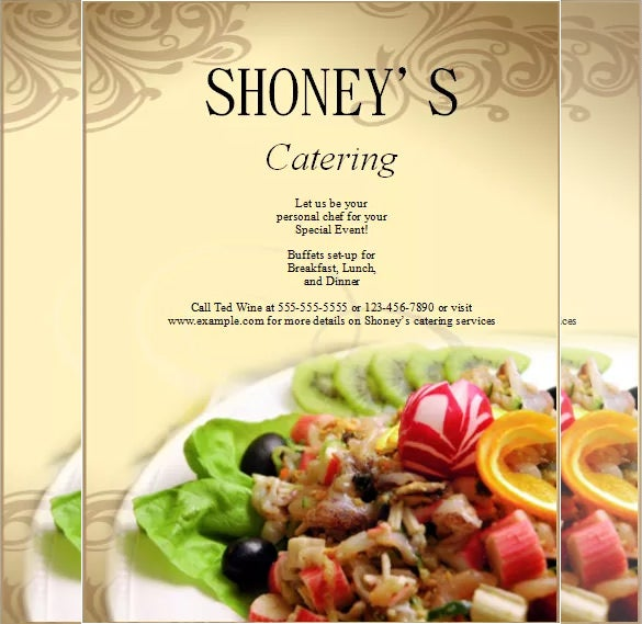 catering company flyer template free download