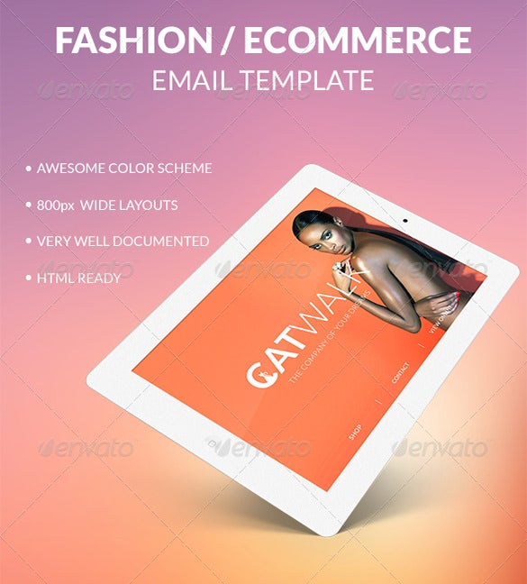 catwalk psd email template