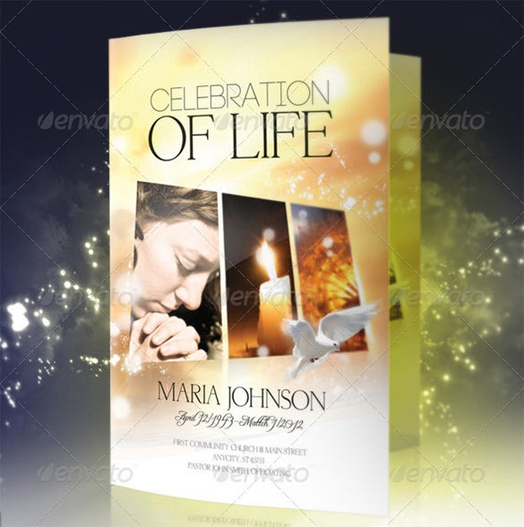 celebration of life funeral program brochure template - Free Celebration Of Life Program Template