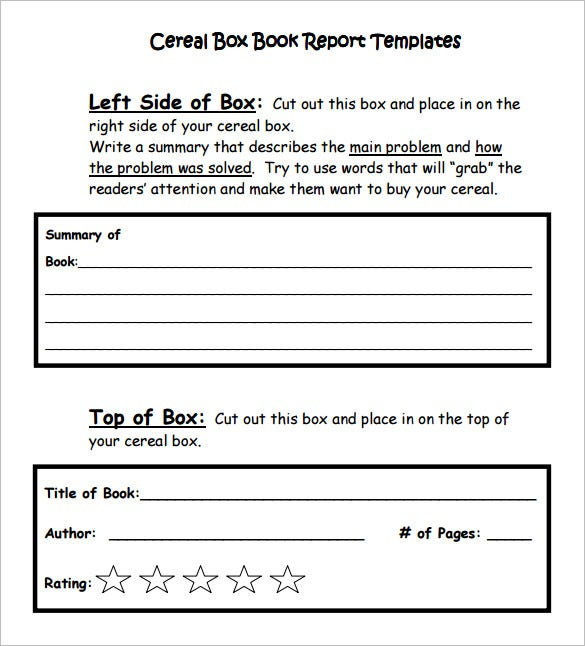 Book report outline – Book Report Summary Template