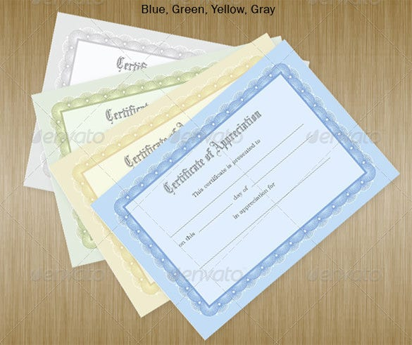 certificate of achievement in multiple colours