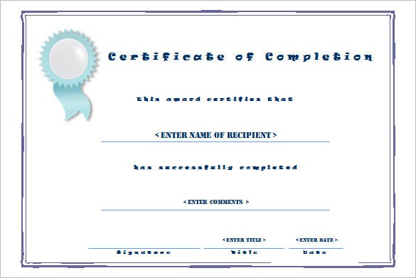 Completion Certificate Template 25 Free Word PDF PSD EPS – Work Completion Certificate Format