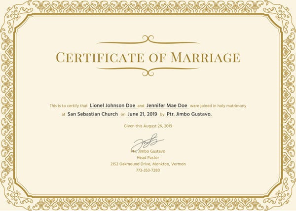 certificate-of-marriage-template