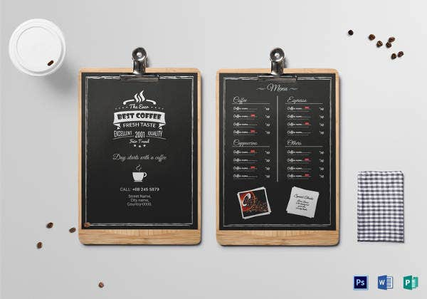 43  cafe menu templates