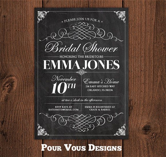 Chalkboard Invitation Template   Free Jpg Psd Indesign Format