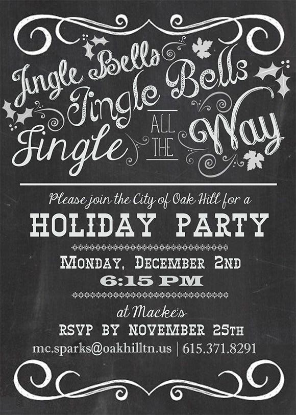 chalkboard holiday party invitation