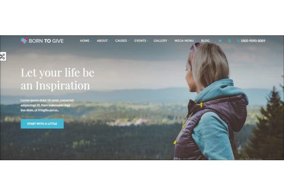 charity crowdfunding responsive wordpress theme
