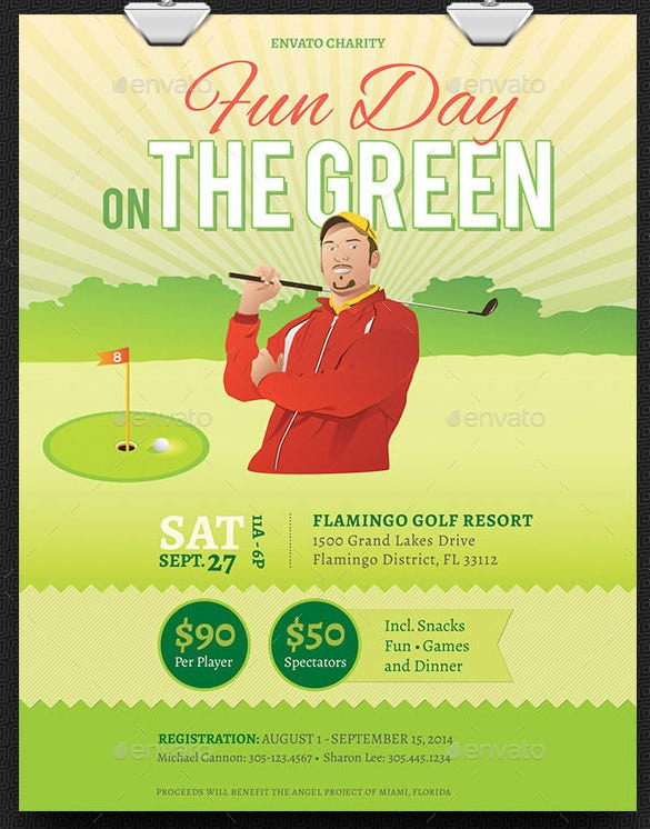 Photoshop Charity Golf Fundraiser Flyer Template U2013 $6