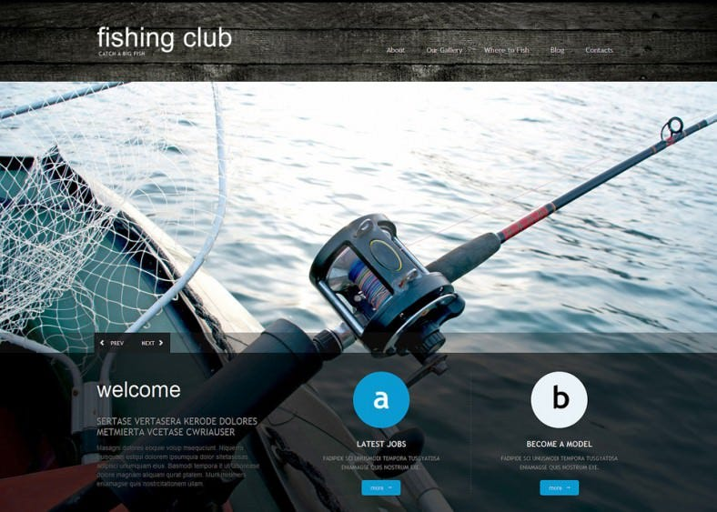 Cherry Frame Work Fishing WordPress Theme
