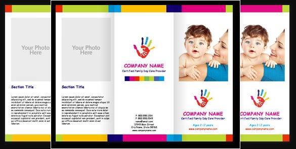 child care cute brochure template