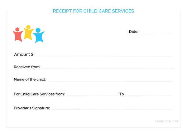 child-care-services-receipt-template