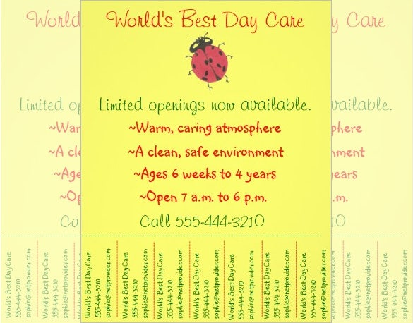 child care or daycare flyer template