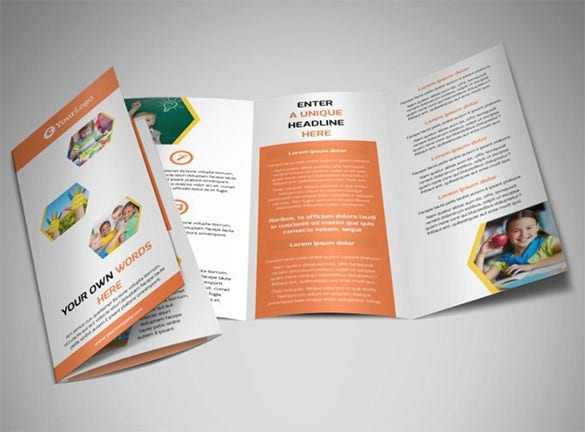 17 school brochure psd templates designs free for Tri fold school brochure template