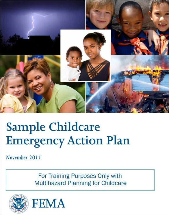 childcare emergency action plan sample