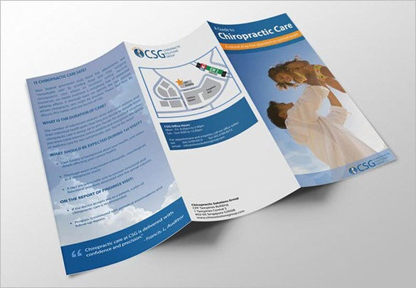 14 best chiropractic brochure templates psd designs