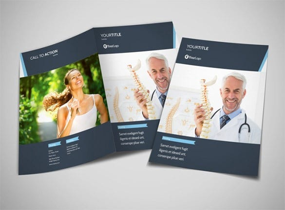 chiropractor therapy bi fold brochure template