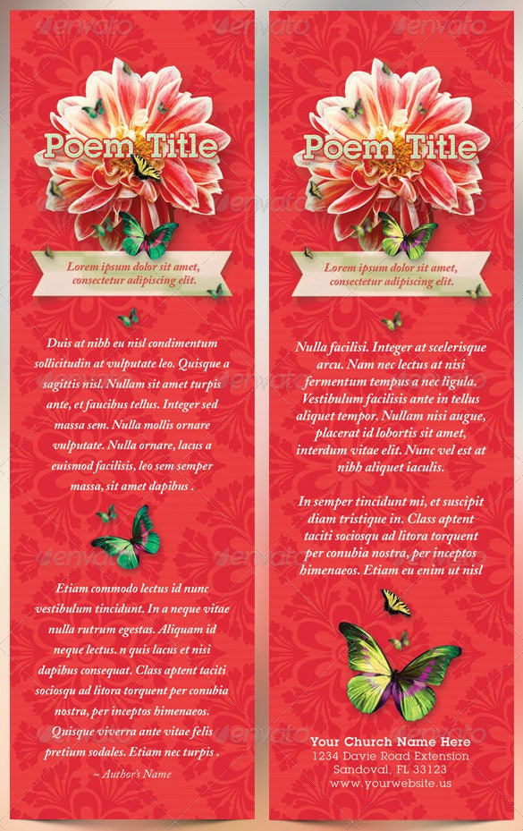 christian bookmark template psd illustrator